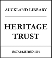 Auckland Libraries Heritage Trust logo.
