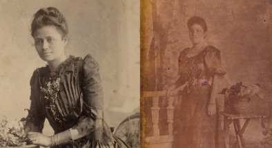 Image: Left: Louisa Kronfeld, c1879. Right: Florence Greig, c1899.