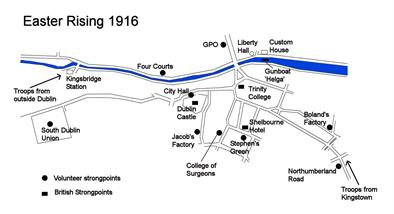 Easter rising map