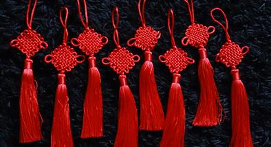 Red Chinese knots.