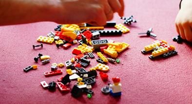 Pieces of Lego.
