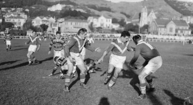 France v Wellington, Basin Reserve, August 1951, Alexander Turnbull Library, Wellington, ref: 114/333/06-F