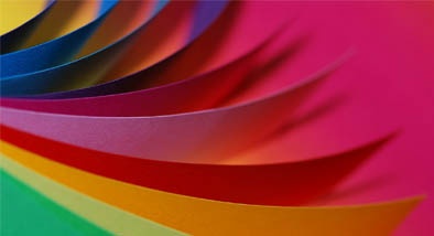 Coloured paper.