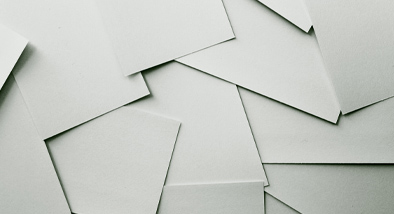Blank paper cards.
