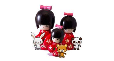 Dolls from Japan.
