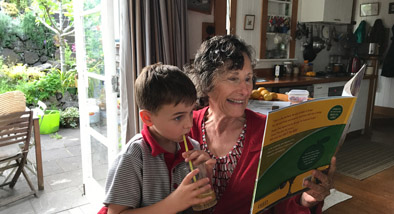Author Janice Marriott with grandson