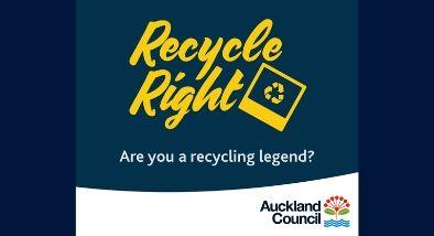 Auckland council recycle right banner.