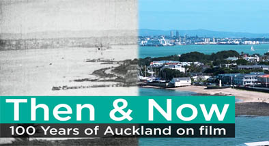 Auckland landscape with text over-laid.