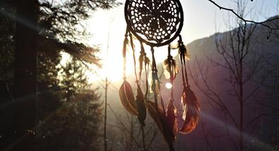 Dreamcatcher in the sun.
