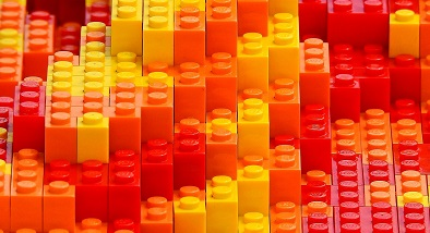 Colourful lego bricks