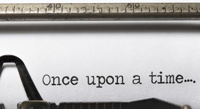 typewriter with Once upon a time written on paper