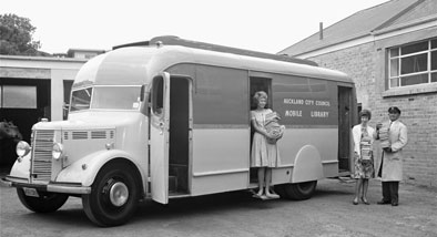 Heritage photograph of a mobile library.