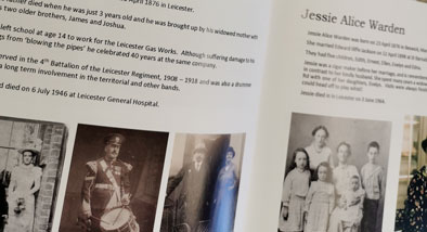 Images of published family histories.