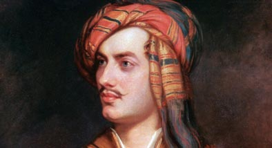 Painting of man with thin moustache and head scarf.