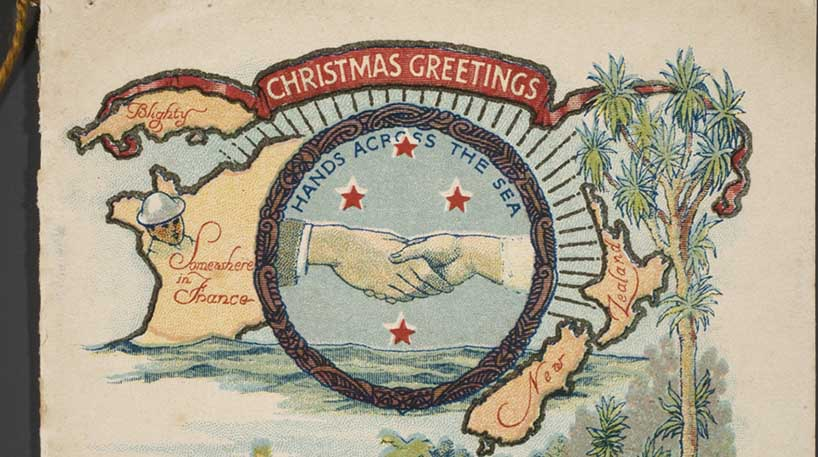 Christmas card from WWI.