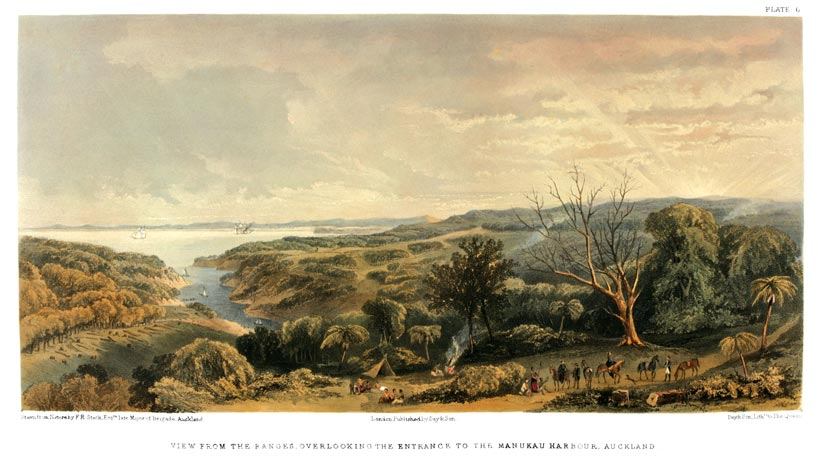 View of Auckland by Frederick Stack, c1863.