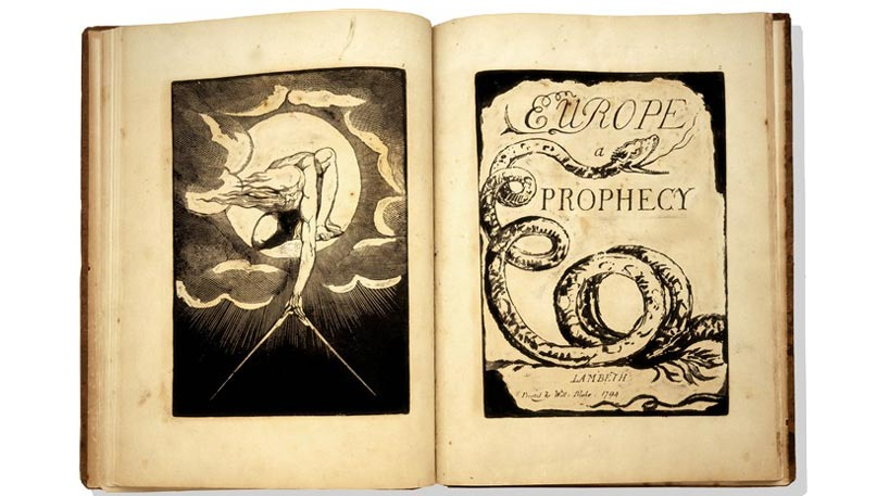 William Blake's book of the poem Europe