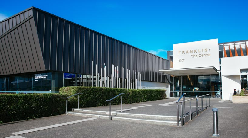 Pukekohe Library entrance