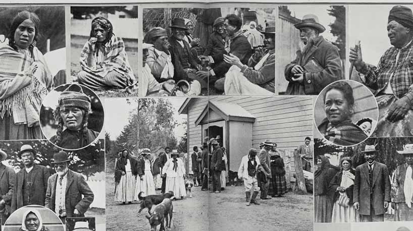 Snapshots of Māori attending a sitting of the Māori Land Court - Lake Taupō, 1914