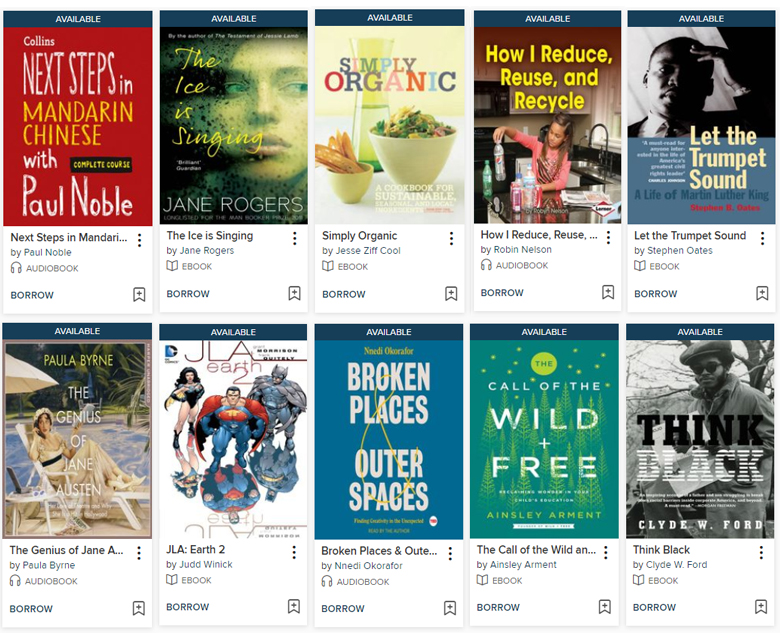 eBooks and eAudiobooks on OverDrive.