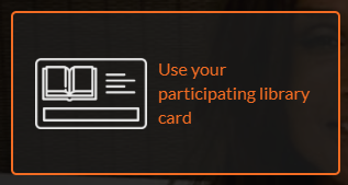 Image showing the option to use participating library card.